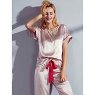 100% Real Silk Pajamas For Women Silk Sleepwear Set PJ  Pyjama Femme  2020 Solid Pijama Ladies Mujer