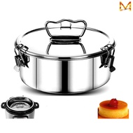 Stainless Steel Steam Basket Portable Steam Cooker with Silicone Oven Gloves and Pad