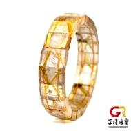 金鈦晶手鍊  清透對花鈦晶手排 厚版粗絲 16x10mm 鈦晶手排 鈦晶手串 正佳珠寶