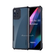 XUNDD 軍事防摔 OPPO Find X3 Pro 鏡頭全包覆 清透保護殼 手機殼(夜幕黑)