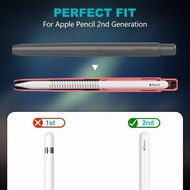 MoKo Holder Case for Apple Pencil 2nd Generation Retractable Tip Protection Secures Cap Protective Cover for iPad Pro 11/12.9 in