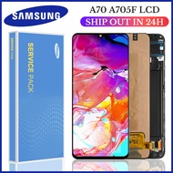 6.7'' Original Super AMOLED LCD For Samsung Galaxy A70 A705 A705F A705FD LCD with Frame Display Touch Screen Digitizer Assembly Full Set Replacment Parts with Fingerprint