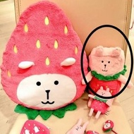CRAFTHOLIC 宇宙人 福岡限定 草莓系列 M號方形抱枕
