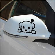 Rearview Mirror Car Stickers Reflective Mirror Cartoon Car Stickers