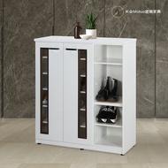 3.2/4尺壓克力兩門半開放塑鋼鞋櫃 塑鋼家具【米朵Miduo】