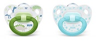 NUK Happy Days Orthodontic Pacifiers, 18-36 Months, 2-Pack Boy