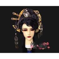 《展示》訂製 墨卿曲 自創小旦 造型 華麗 深紫色頭髮 貴氣 布袋戲造型 布袋戲偶 偶頭 古風