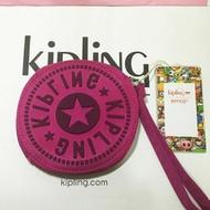 比利時 Kipling 限量 emoji 零錢包 桃紅 小錢包 手拿包