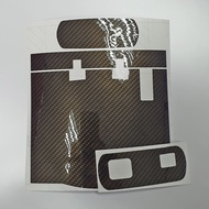 Motorcycle IU Sticker Top Front and Back ( Glossy Carbon Fibre )