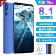 【Original Ready Stock】P20 Plus smartphone 5.8 inch 4GB RAM + 32GB ROM Android Mobile Phone Murah 3G network mobilephone Handfon Telefon Fone Handphone huawei original screen