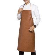 圍裙成人防水防油皮革圍裙做飯廚房加厚耐酸堿工業圍裙印字男女 聖誕免運