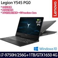 【Lenovo】Y545 PG0 15.6吋FHD/i7-9750H/8G/256G SSD+1TB/GX1650 4G/Win10電競筆電(81T2000ATW)