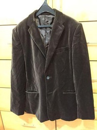 男士紳士英倫西裝外套 絨布咖啡色品牌BANANA Republic另 贈送西裝外套黑色一件L號