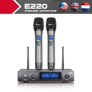 Whole Metal!!!UHF!!! 2 Channel Cordless Microphone System UHF Wireless Karaoke Microphone System
