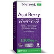 【現貨100%㊣品】美國原裝代購 NATROL巴西莓1,200mg 60粒素食膠囊