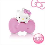 【Hello Kitty】16GB蝴蝶結系列造型隨身碟-速達(珠光粉)