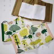 【布要出門】立體剪裁夾層布口罩-綠色系(XS-L) Cotton mask