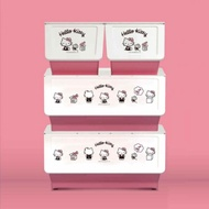 樹德 livinbox - Hello Kitty聯名大嘴鳥收納箱組 (2大2小 / 4入1組)