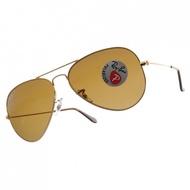 RayBan雷朋 偏光太陽眼鏡  RB3025 00157 -58mm 人氣經典飛官款 -金橘眼鏡