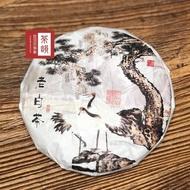 【茶韻】2008年福鼎白茶357克老白茶餅普洱茶葉禮盒(附茶樣10克.實木茶刀.收藏盒各1)
