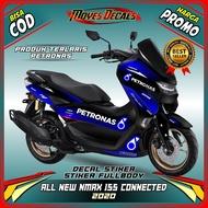 Decal stiker full body - decal stiker motor yamaha new NMAX 155 CONNECTED 2020 Motif petronas biru - spec B