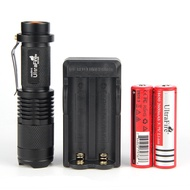 UltraFire Super Bright Mini Flashlight, XM-L2 800 Lumen Flashlight Led Torch, Adjustable Pocket 18650 Flashlights Kit (with Charger and 18650 Rechargeable batteries)