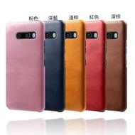 LG G8X ThinQ K51s K61 Velvet  皮革保護殼牛皮仿真皮紋單色背蓋素色多色手機殼保護套手機套