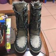 義大利品牌 英國購入 vibram雪靴 綁帶靴子含鞋盒 hi-Tec 登山鞋 保暖靴