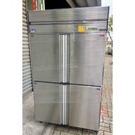 Uni-Cool優尼酷四門冰箱/四門不鏽鋼上凍下藏冰箱/營業用白鐵冰箱