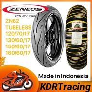 ZENEOS ZN62 MOTORCYCLE TIRE GULONG TUBELESS 120 70 17 130 60 17 150 60 17 160 60 17   motorcycle license az