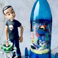 絕版 巴斯光年 火箭 收納桶 26公分 餅乾盒 造型罐 迪士尼 限量