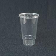 100組 生物可分解【PLA R700Y 有捲邊冷飲杯+圓孔平蓋】透明杯 塑膠杯 Y形杯 造型杯 環保杯 杯子