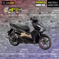 【READY Stock】۩۞❄Honda Airblade 150 Mags Decals - Dagger series
