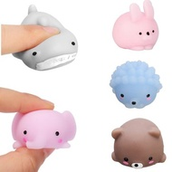 5PCS Mochi Animal Squishy Squeeze Cute Healing Toy 4cm Kawaii Collection Stress Relief Toy
