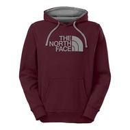 美國百分百【The North Face】帽T 連帽 TNF T恤 北臉 長袖 厚綿 酒紅色 灰標 S號 B955