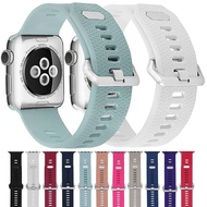 สายสำหรับApple Watch Band 5 4 40Mm 44Mm,สายซิลิโคนสำหรับIWatch Series 1/2/3 38Mm 42Mmรูปแบบใหม่