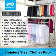 [JML Official] Ultimo Casa Deluxe | 84cm to 120cm Stainless Steel Clothes drying rack