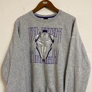 《舊贖古著》Nike 大學踢 Kobe 黑曼巴 灰色 長袖 古著 vintage