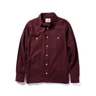 "Retrodandy - "" Chamois Shirt "" - 酒紅 Burgundy"