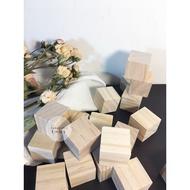『 Zumuga_art 』 正方體 木塊  松木塊  實木3cmx 3cm  2x2 1x1