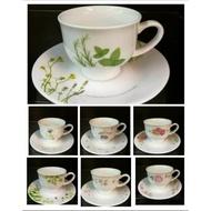 Corelle tea set cup (corelle cup + corelle saucer)