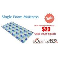 [Non-Foldable]Single PU Foam mattress - Portable & Low Density Polyurethane Foam