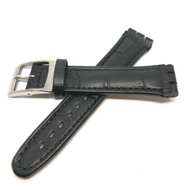 Black / Brown Leather Swatch Strap Fit Size 17 19 21mm