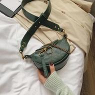กระเป๋าคาดลำตัวหนังพียูสำหรับผู้หญิง,กระเป๋าคนส่งเอกสารสะพายไหล่ใบเล็กสายโซ่สำหรับเดินทางกระเป๋าถือและกระเป๋าเงินแฟชั่นปี2020