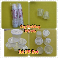 Cup Puding Merpati 150 ML ISI 25 Set Cup Jelly Cup slime 150 ML