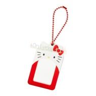 【真愛日本】凱蒂貓kitty 鑰匙圈 娃娃 吊飾 包包配件 療育小物 女生配件 4901610150252 相片吊鍊掛飾-KT大臉ED125