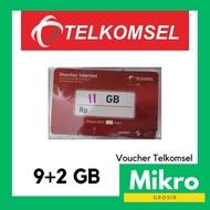 VOUCHER TELKOMSEL 9+2GB