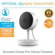 [Official blurams SG] Home Pro Home Camera 1080P Ultra Wide Angle Night Vision Smart Human/Sound/Motion Detection Privacy Mode Cloud/Local Storage/Works with Alexa *1 Year Local Warranty*