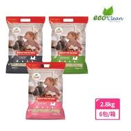 【ECO 艾可】天然草本輕質型豆腐貓砂-6入 2.8kg/6.17lb(仿礦豆腐貓砂 破碎型豆腐貓砂)