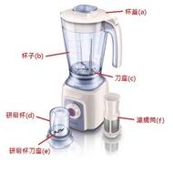 PHILIPS飛利浦超活氧果汁機 HR2167 專用配件/耗材 杯子.刀座.杯蓋.研磨杯.濾網~HR2168